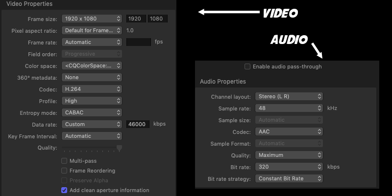 FCP co Forum :: Topic: what is best export settings for
